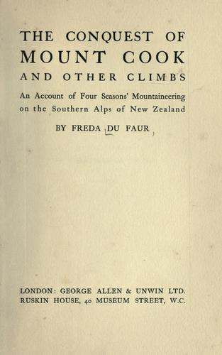 Download The conquest of mount Cook and other climbs
