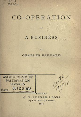 Download Co-operation as a business.