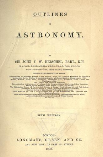 Download Outlines of astronomy.