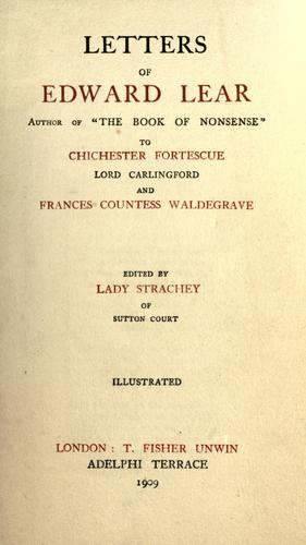 Letters of Edward Lear