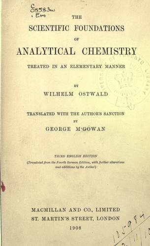 The scientific foundations of analytical chemistry
