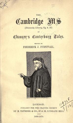 [Publications] by Chaucer Society, London