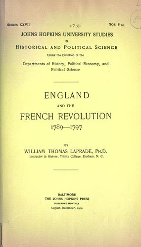 England and the French Revolution, 1789-1797.