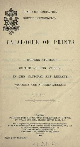 Catalogue of prints …