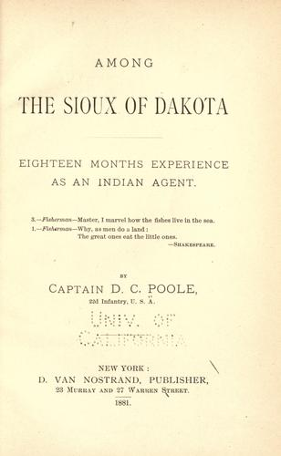 Download Among the Sioux of Dakota
