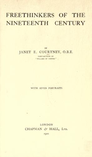 Freethinkers of the nineteenth century