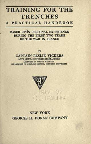 Training for the trenches by Leslie Vickers