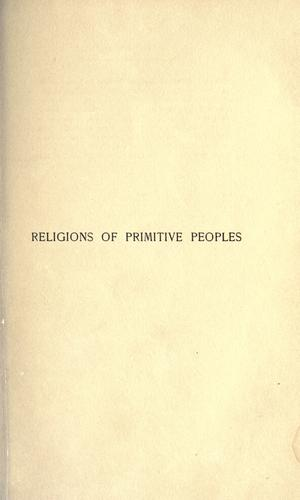 Download Religions of primitive peoples