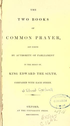 Download The two books of Common Prayer