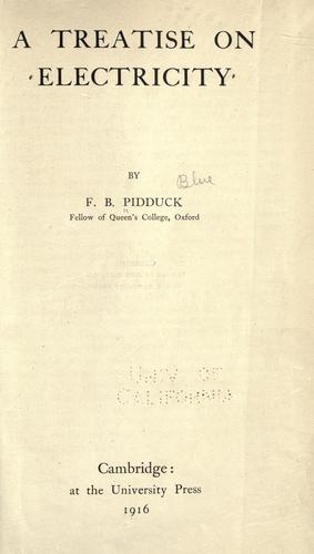 Download A treatise on electricity