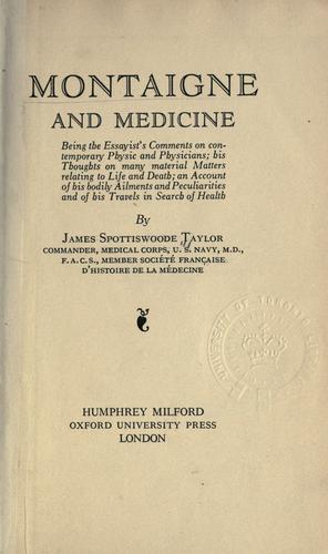Montaigne and medicine
