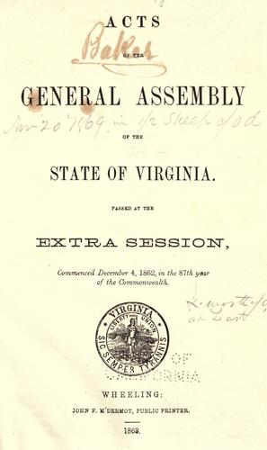 Download Acts of the General Assembly of the state of Virginia