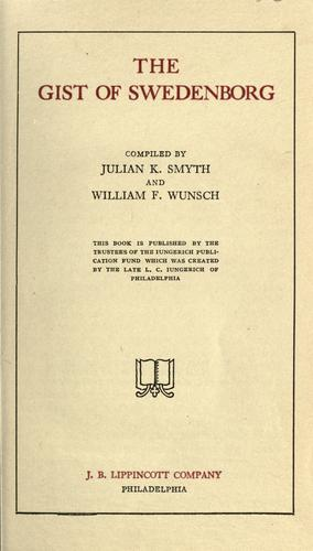 The gist of Swedenborg