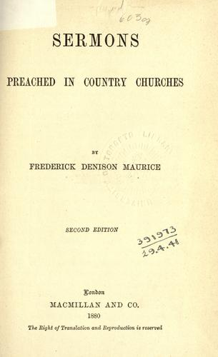 Download Sermons preached in country churches