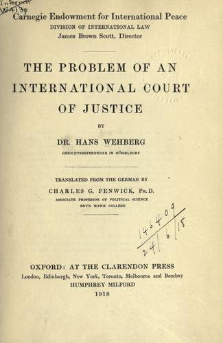 Download The problem of an international court of justice
