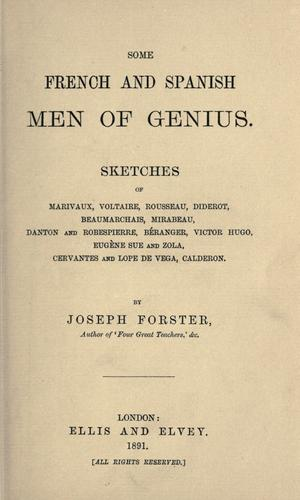 Download Some French and Spanish men of genius.