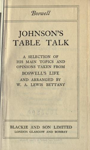 Download Johnson's table talk