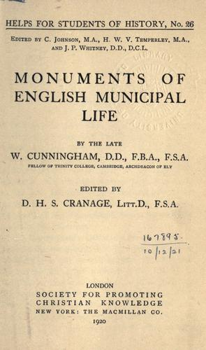 Download Monuments of English municipal life.