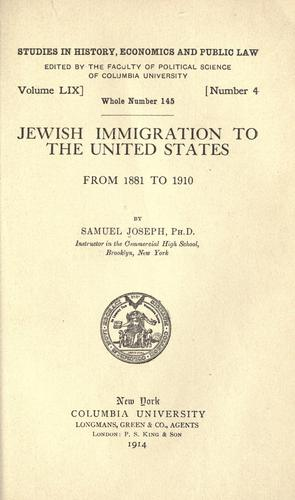 Download Jewish immigration to the United States, from 1881 to 1910