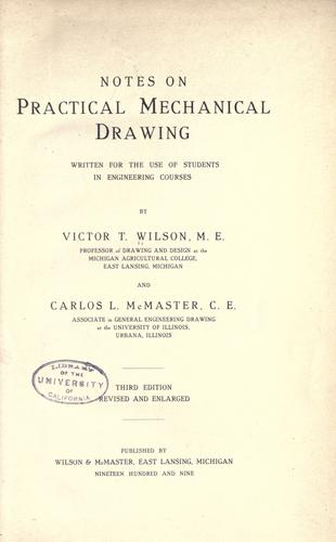 Download Notes on practical mechanical drawing