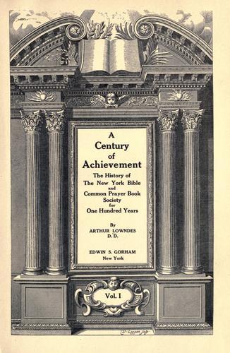Download A century of achievement