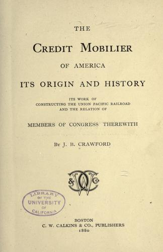 Download The credit mobilier of America
