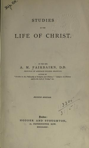Download Studies in the Life of Christ.