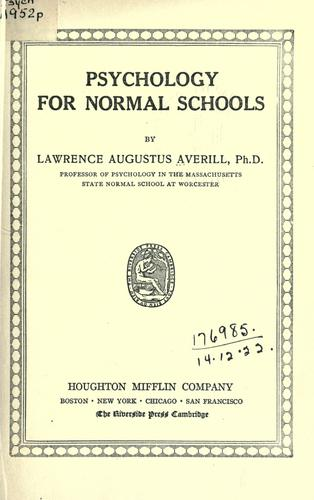 Download Psychology for normal schools.