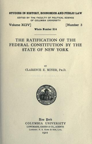 Download The ratification of the Federal Constitution by the state of New York
