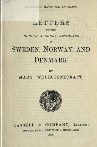 Download Letters written during a short residence in Sweden, Norway, and Denmark.