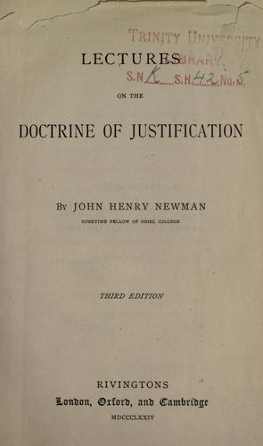 Download Lectures on the doctrine of justification.