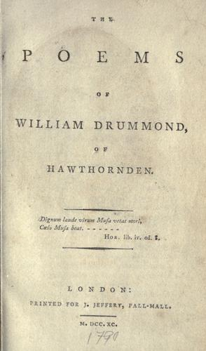 The poems of William Drummond of Hawthornden.