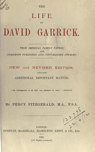 Download The life of David Garrick.