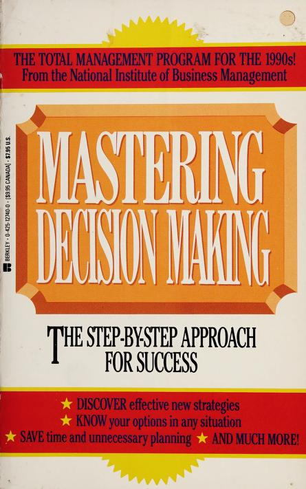 Mastering Decision Mk by Natl Ins Busi Mgmt