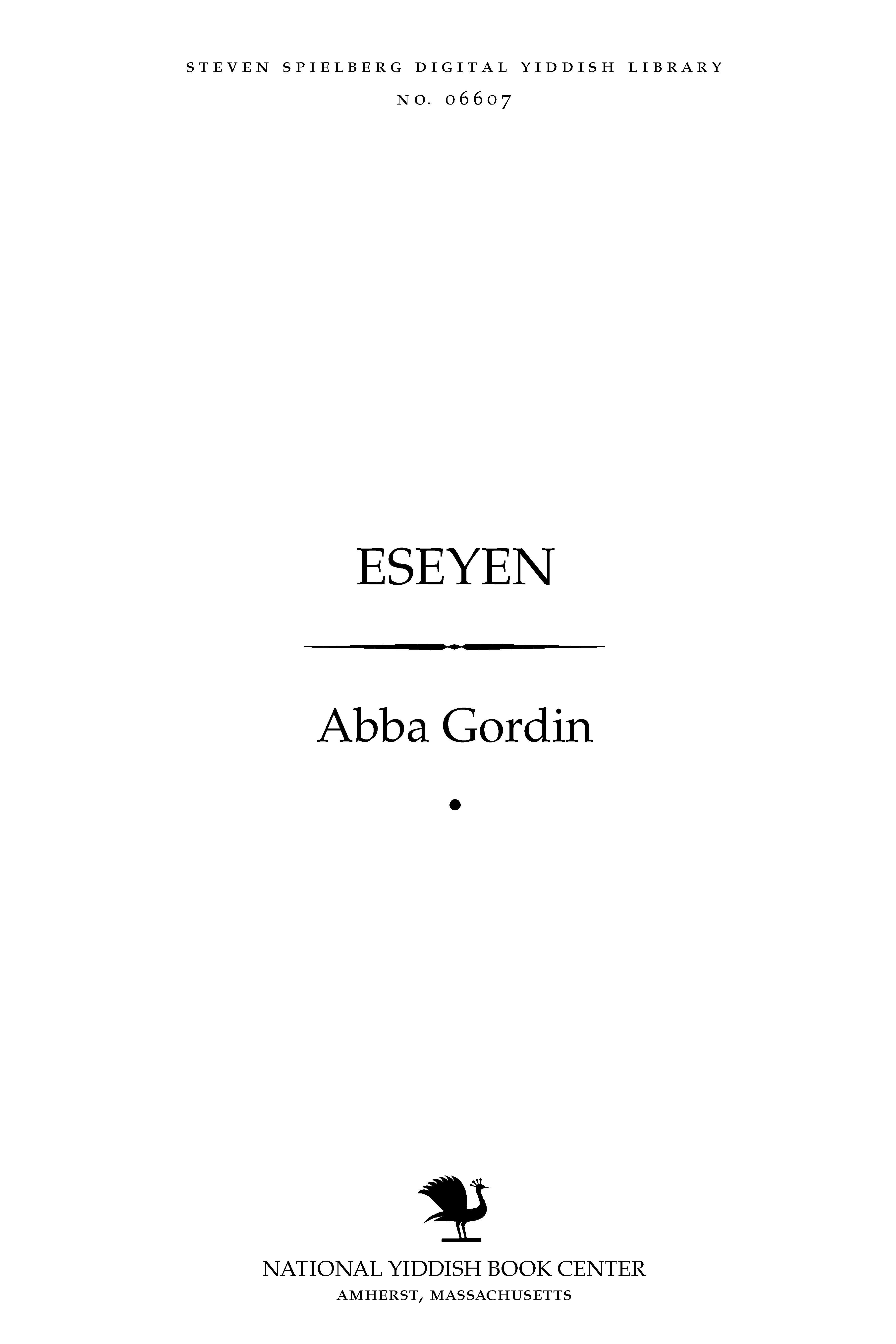 Cover of: Eseyen