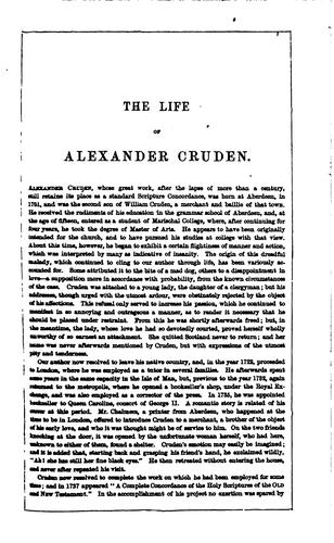 A complete concordance to the sacred Scriptures, slightly condensed by Alexander Cruden