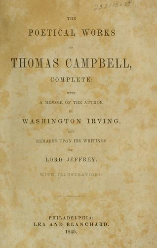 The poetical works of Thomas Campbell by Thomas Campbell