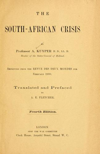 The South-African crisis by Abraham Kuyper