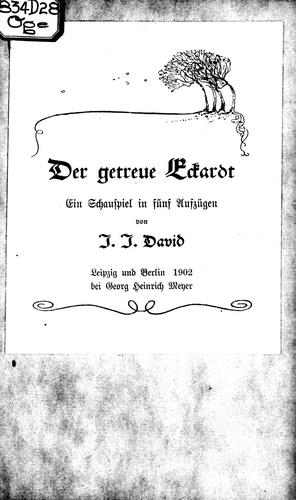 Der getreue Eckardt by J.J. David.