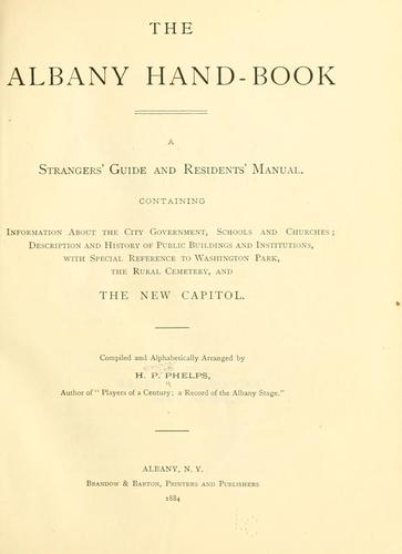 The Albany hand-book by Henry Pitt Phelps