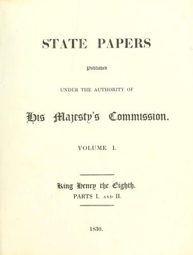 State papers by Great Britain. Record Commission.