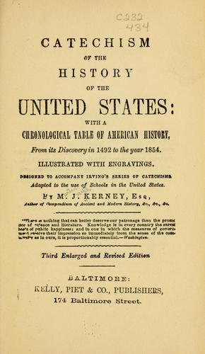 Catechism of the history of the United States by Martin Joseph Kerney