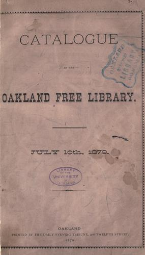 Catalogue by Oakland Free Library.
