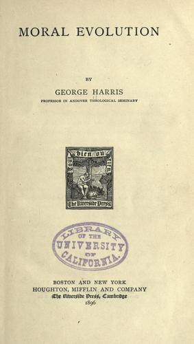 Moral evolution by Harris, George