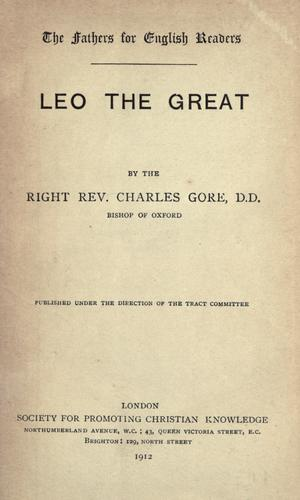 Leo the Great by Gore, Charles
