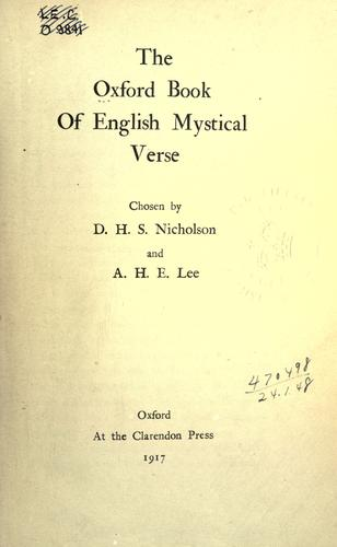 The Oxford book of English mystical verse by