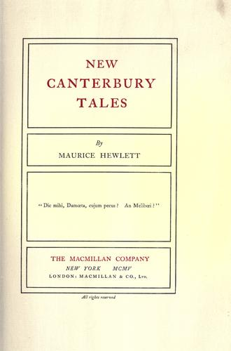 New Canterbury tales.