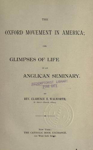 The Oxford movement in America