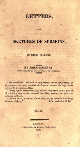 Letters, and sketches of sermons by John Murray