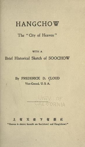 Hangchow by Frederick D. Cloud